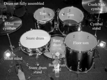 Drum kit fully assembles